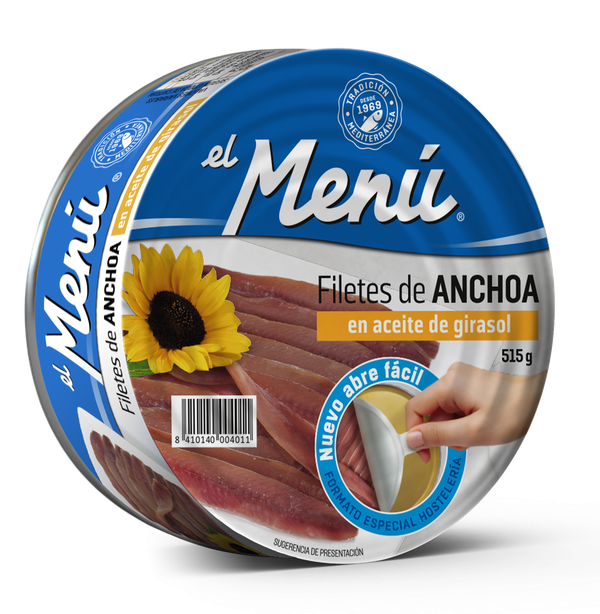 Anchovy fillets in Sunflower Oil - RO515 gr.