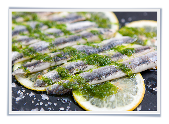 White Anchovies with Lemon and Parsley