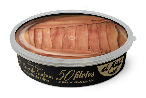 Large size Cantabrian Anchovy Fillets in Olive Oil-50 uds.